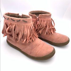 Harper Canyon Blush Pink Moccasins - Kids Size 12